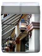 Lanterns And Lines Duvet Cover