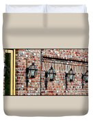 Lanterns In The Courtyard Duvet Cover