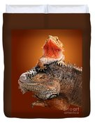Lap Lizard Duvet Cover by Jim Carrell