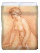Large Bather Duvet Cover by Pierre Auguste Renoir