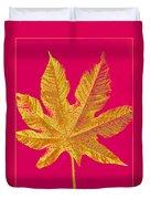 Large Leaf Photoart Duvet Cover