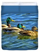 Larry Moe And Shirley Duvet Cover
