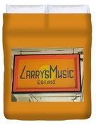 Larrys Music  Est 1952 Duvet Cover