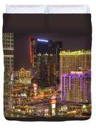 Las Vegas Nevada Duvet Cover by Nicholas  Grunas