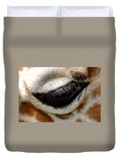 Lashes On The Eye Duvet Cover