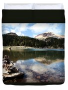 Lassen Mountain Lakes Duvet Cover