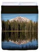 Lassen Peak Reflections Duvet Cover