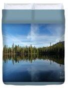Lassen Summit Lake Reflections Duvet Cover