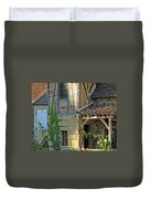 Last Light In Sarlat Duvet Cover
