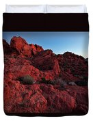 Last Light In Valley Of Fire Duvet Cover