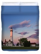 Last Light Of Day At Wind Point Lighthouse - D001125 Duvet Cover