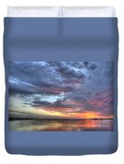 Last Light Over The Lake Duvet Cover