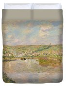 Late Afternoon - Vetheuil Duvet Cover