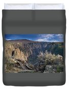 Late Afternoon At Black Canyon Of The Gunnison Duvet Cover