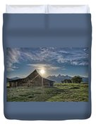 Late Evening At Moulton Barn Duvet Cover
