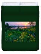 Late Summer Lake Duvet Cover