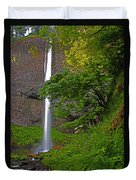 Latourell Falls Oregon - Posterized Duvet Cover
