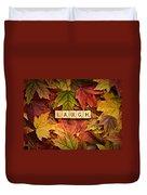 Laugh-autumn Duvet Cover