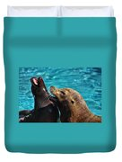 Laughing Seals Duvet Cover