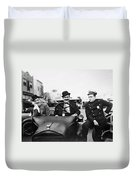 Laurel And Hardy, 1928 Duvet Cover