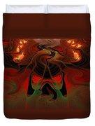 Red Hot Lava Duvet Cover