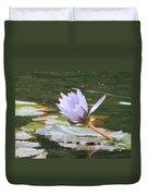 Lavendar Aqua Queen Duvet Cover