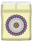Lavender And Yellow Kaleidoscope Duvet Cover