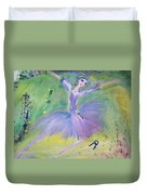 Lavender Ballerina Duvet Cover