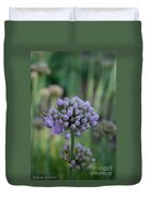Lavender Flowering Onion Duvet Cover