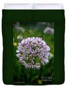 Lavender Globe Lily Duvet Cover