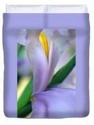 Lavender Iris Duvet Cover by Kathy Yates