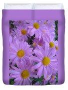 Lavender Mum Bouquets Duvet Cover
