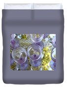 Lavender Wine Glasses Duvet Cover
