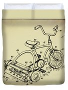 Lawnmower Tricycle Patent Duvet Cover