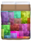 Layered Tiles Abstract Duvet Cover