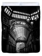 Leadenhall Market Black And White Duvet Cover
