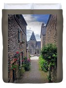 Leading To The Church Provence France Duvet Cover