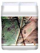 Leaf After Rain Duvet Cover