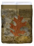 Leaf Life 01 -brown 01b2 Duvet Cover by Variance Collections