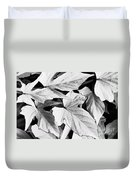Leaf Study In Black And White Duvet Cover