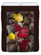 Leafs And Stones Duvet Cover