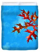 Leaves Against The Sky Duvet Cover