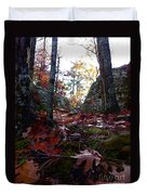 Leaves In The Forest Duvet Cover