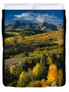 Leaves Turning At Dallas Divide Duvet Cover