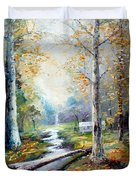 Leaving The Woodland Creek  Duvet Cover
