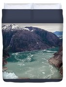 Leconte Glacier Duvet Cover by Mike Reid