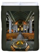 Leeds Cathedral Baptismal Font And Nave Duvet Cover