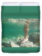 Legs Underwater Duvet Cover