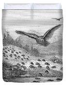 Lemming Migration Duvet Cover