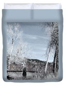 Lenore With Camera At The Garden Of The Gods 2 Duvet Cover